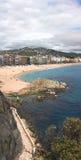 Vertikales Panorama von Lloret De Mrz (Girona, Spanien) Lizenzfreie Stockbilder