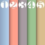 Vertikales Papier nummeriert Fahnen Lizenzfreies Stockfoto