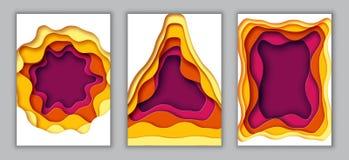 Vertikales Papier A4 schnitt Fahnenschablonen-Zusammenfassungshintergrund Stockfotografie