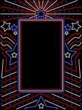 Vertikales patriotisches Neonzeichen vektor abbildung