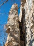 Vertikales Stück des Felsens Stockbild
