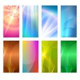 Vertikalt abstrakt begrepp för glöd för bakgrund för beståndsdel för fastställd design för baner Royaltyfri Bild