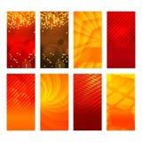 Vertikalt abstrakt begrepp för glöd för bakgrund för beståndsdel för fastställd design för baner Royaltyfri Foto