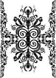 vertikalt brett för svart blom- band vektor illustrationer