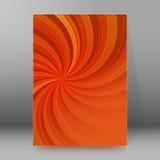 Vertikalt format glödande background34 för broschyrräkningsmall Arkivbilder
