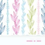 Vertikalt horisontalsönderrivet sömlöst för blom- band Royaltyfria Bilder