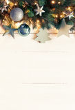Vertikalt julbaner för turkos, kopieringsutrymme, Instagram filter Royaltyfri Bild