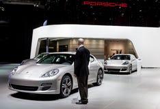 Vertoning 2012 NAIAS van Porsche Royalty-vrije Stock Afbeeldingen