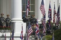 Vertoning van de Britse Vlag van Union Jack Stock Afbeeldingen