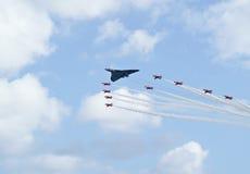 Vertoning van de Pijlen van Royal Air Force de Rode Stock Afbeelding