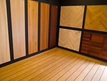 Vertoning van de vloeren van het hardhoutparket Stock Afbeelding