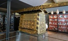 Vertoning van oosterse Japanse kunst in Oosters Art Gallery in Veneti?, Itali? stock fotografie