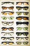 Vertoning van zonnebril Royalty-vrije Stock Foto's