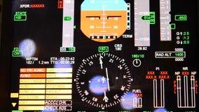 Vertoningen voor het uitrusten van cabines van vliegtuigen en helikopters stock videobeelden