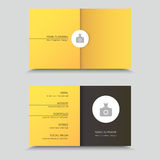 Vertor Visit Card Template Design with photo Stock Photography