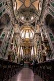 Vertorama dell'interno Jesuitenkirche di Mannheim, Germania Immagine Stock