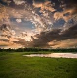 Vertorama di tramonto Fotografie Stock