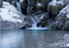 Vertova waterfall royalty free stock photo