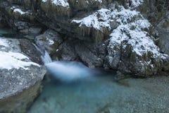 Vertova waterfall stock image