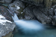 Vertova waterfall royalty free stock photos