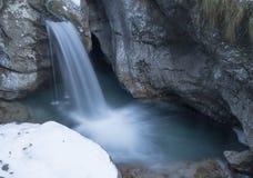 Vertova waterfall royalty free stock image