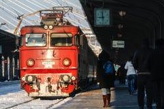 Vertraagde treinen in de winter Royalty-vrije Stock Afbeeldingen
