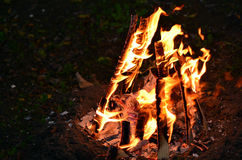 Vertraging Ba'Omer Jewish Holiday Bonfire royalty-vrije stock fotografie