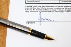 Vertragsunterzeichnung stockfotografie