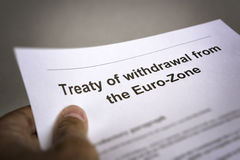 Vertragzurücknahme vom Euroland Stockbilder