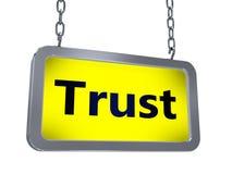 Vertrauen auf Anschlagtafel lizenzfreie abbildung