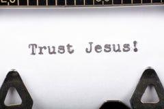 Vertrauen Jesus Stockbilder