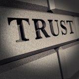 Vertrauensehrenfelsen-Zeichengeschäft finanziell lizenzfreie abbildung