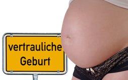 Vertrauliche Geburt stockfoto