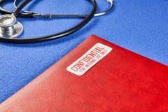 Vertrauliche geduldige Gesundheitsakte stockfotografie