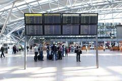 Vertrek Hall Hamburg Airport Royalty-vrije Stock Afbeeldingen