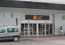 Vertrek in Murcia San Javier Airport Stock Afbeelding