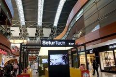 Vertrekgebied in de Sabiha Gokcen-luchthaven Stock Fotografie