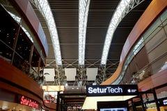 Vertrekgebied in de Sabiha Gokcen-luchthaven Stock Foto's