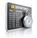 Vertrekraad met chronometer Stock Foto's