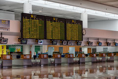 Vertrekzaal bij Arrecife luchthaven royalty-vrije stock afbeeldingen