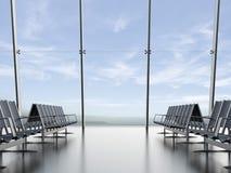 Vertrekzitkamer bij de luchthaven Stock Foto