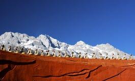 Vertreter, die am Eindruck Lijiang durchführen stockbilder