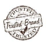 Vertrouwde op merk rubberzegel Stock Afbeelding