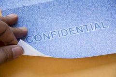 Vertrouwelijk de beschermingsconcept van de brievengegevensbeveiliging stock foto's