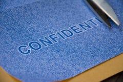 Vertrouwelijk de beschermingsconcept van de brievengegevensbeveiliging royalty-vrije stock fotografie