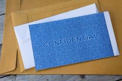Vertrouwelijk de beschermingsconcept van de brievengegevensbeveiliging royalty-vrije stock afbeelding