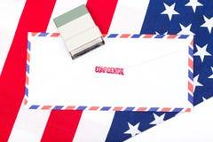 Vertrouwelijke brief, de V.S. royalty-vrije stock foto
