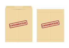 Vertrouwelijke envelop Royalty-vrije Stock Foto