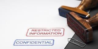 Vertrouwelijke Informatie, Clasified-Gegevens Stock Foto's