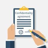 Vertrouwelijkheidsovereenkomst royalty-vrije illustratie